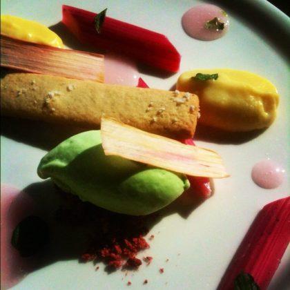 rhubarb dessert